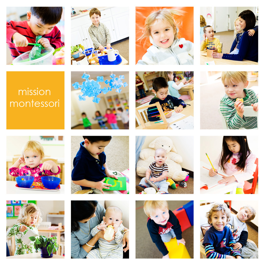 children at work and play in a montessori environment